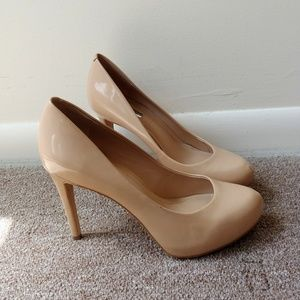 BCBGeneration Nude Patent Leather Pump